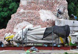Retiran estatua Juana Azurduyque costó $us 1 MM a Bolivia