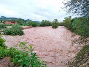 En cinco departamentos.  Alerta roja y naranja por posibles desbordes de ríos
