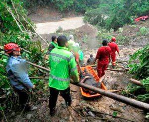 Deslizamiento en ruta a Caranavi.  Piden continuar labores de búsqueda